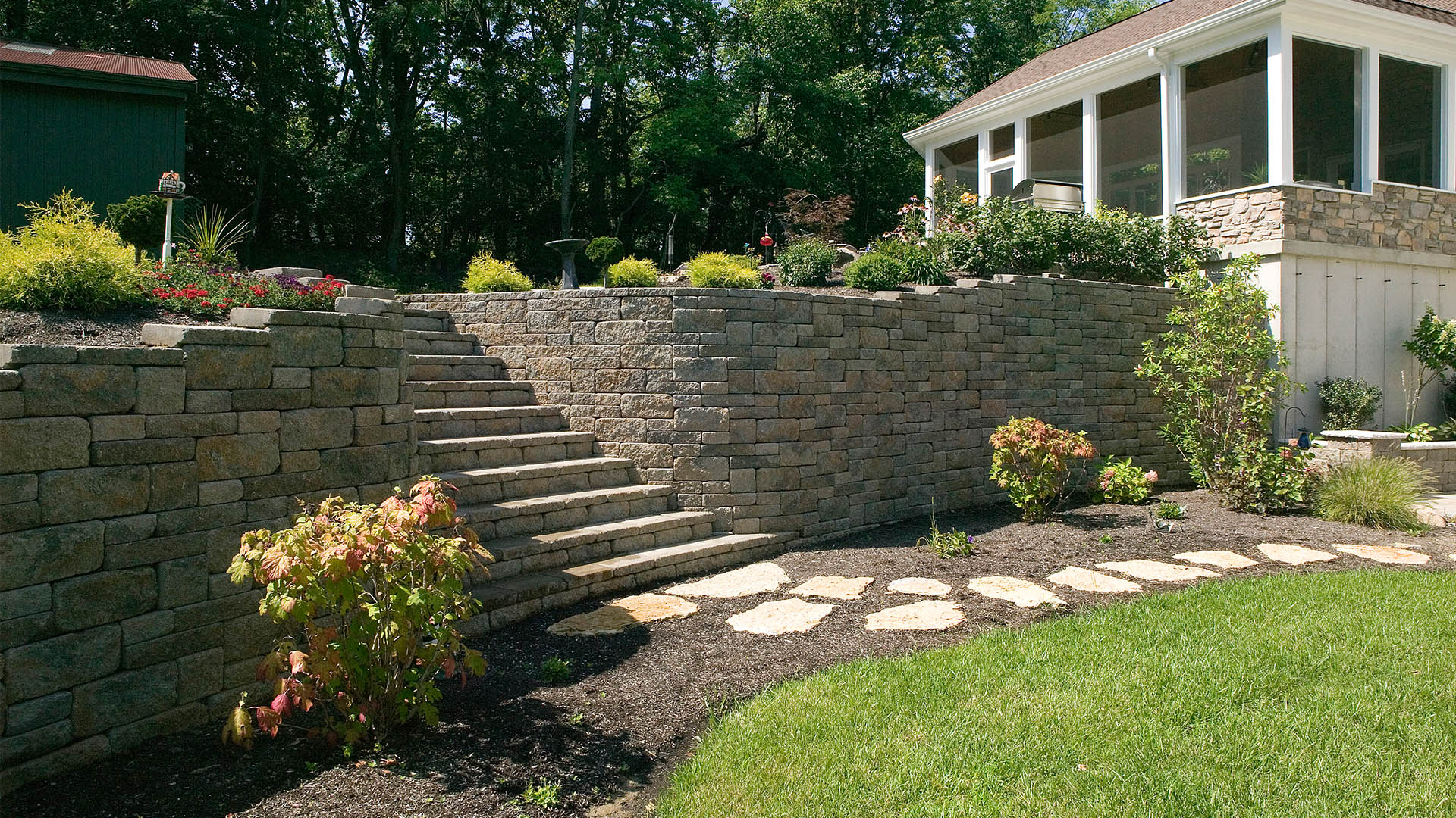 Premier Landscapes LLC Hardscapes, Retaining Walls and Walkways slide 2